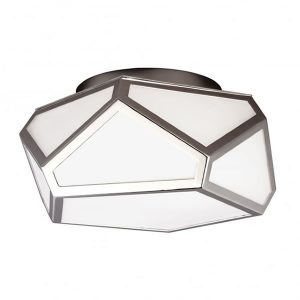 Feiss Diamond 1 Light Ceiling Light Polished Nickel for sale at Lichfield Lighting