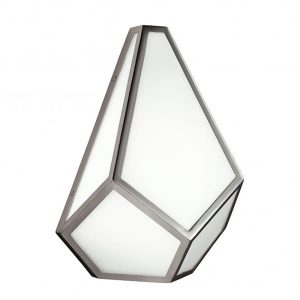 Feiss Diamond 1 Light Wall Light Polished Nickel for sale at Lichfield Lighting
