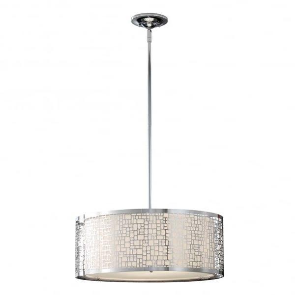 Fiess Joplin 3 Light Ceiling Pendant Polished Chrome for sale at Lichfield Lighting