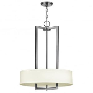Hinkley Hampton 3lt Pendant Chandelier Antique Nickel for sale at Lichfield Lighting