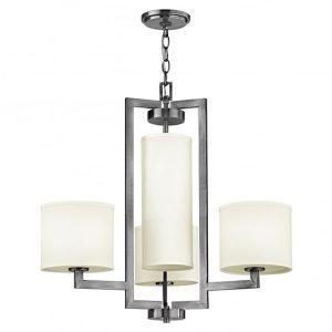 Hinkley Hampton 4lt Chandelier Antique Nickel for sale at Lichfield Lighting