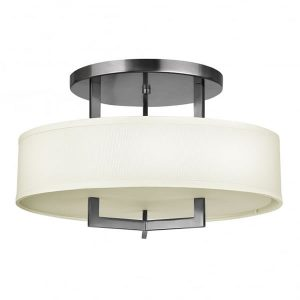 Hinkley Hampton Semi-Flush 3 Light Ceiling Light Antique Nickel for sale at Lichfield Lighting