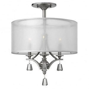 Hinkley Mime Semi-Flush 3 Light Wall Light for sale at lichfieldlighting.co.uk