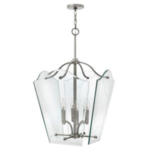 Hinkley Wingate Large Pendant Polished Antique Nickel for sale at Lichfield Lighting