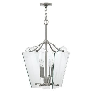 Hinkley Wingate Medium Pendant Polished Antique Nickel for sale at lichfieldlighting.co.uk
