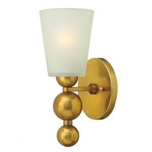 Hinkley Zelda 1lt Wall Light Vintage Brass for sale at lichfieldlighting.co.uk