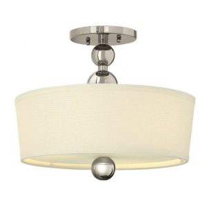 Hinkley Zelda 3lt Semi-Flush Polished Nickel sale at lichfieldlighting.co.uk