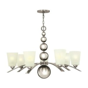 Hinkley Zelda 7lt Chandelier Polished Nickel for sale at Lichfield Lighting