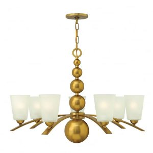 Hinkley Zelda 7lt Chandelier Vintage Brass for sale at Lichfield Lighting