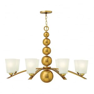 Hinkley Zelda 8lt Chandelier Vintage Brass for sale at Lichfield Lighting