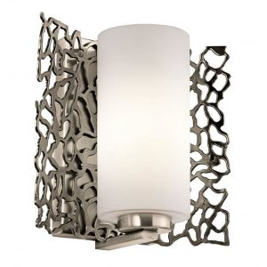 Kichler Silver Coral 1 Light Wall Light Pewter for sale at Lichfield Lighting