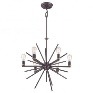 Quoizel Uptown Carnegie 6lt Chandelier Bronze for sale at Lichfield Lighting