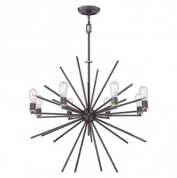 Quoizel Uptown Carnegie 8lt Chandelier Bronze for sale at Lichfield Lighting