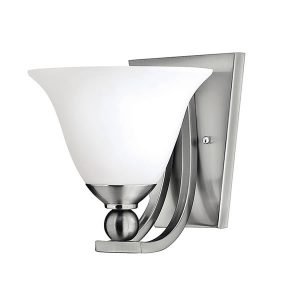 Elstead Hinkley Bolla 1lt Wall Light Brushed Nickel for sale at Lichfield Lighting