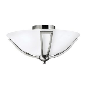 Elstead Hinkley Bolla 2lt Flush Brushed Nickel for sale at Lichfield Lighting