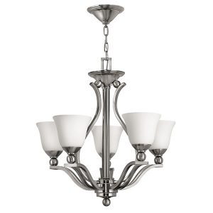 Elstead Hinkley Bolla 5lt Chandelier Brushed Nickel for sale at Lichfield Lighting