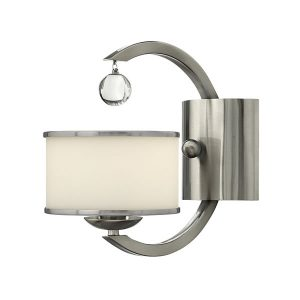 Elstead Hinkley Monaco 1lt Wall Light Brushed Nickel for sale at Lichfield Lighting