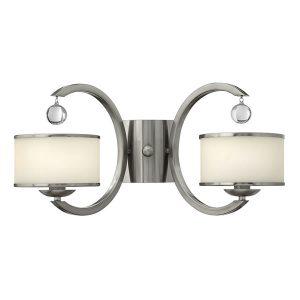 Elstead Hinkley Monaco 2lt Wall Light Brushed Nickel for sale at Lichfield Lighting