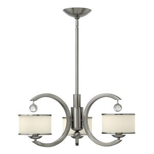 Elstead Hinkley Monaco 5lt Chandelier Brushed Nickel for sale at Lichfield Lighting