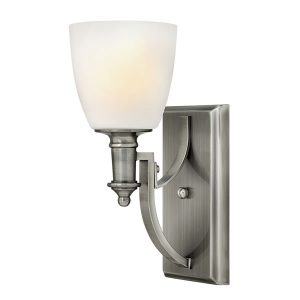 Elstead Hinkley Truman 1lt Wall Light Antique Nickel for sale at Lichfield Lighting