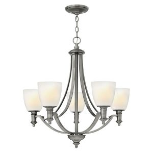 Elstead Hinkley Truman 5lt Chandelier Antique Nickel for sale at Lichfield Lighting