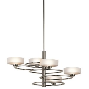 Elstead Aleeka 5lt 5b Chandelier Classic Pewter for sale at Lichfield Lighting