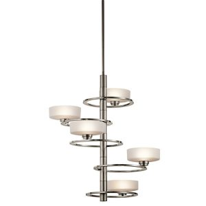 Elstead Aleeka 5lt Chandelier Classic Pewter for sale at Lichfield Lighting