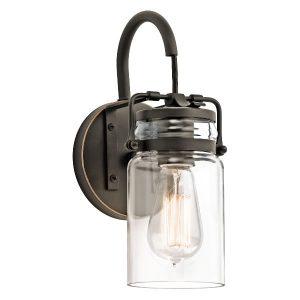 Elstead Kichler Brinley 1lt Wall Light for sale at Lichfield Lighting