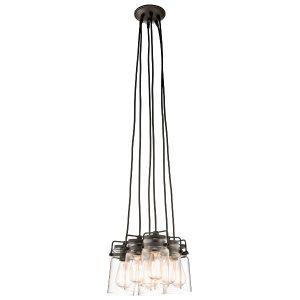 Elstead Kichler Brinley 6lt Pendant Ceiling Light for sale at Lichfield Lighting