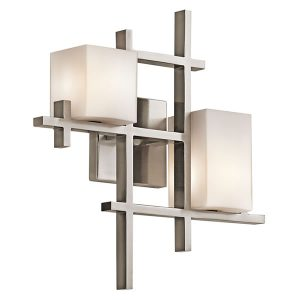 Elstead Kichler City Lights 2lt Wall Light Classic Pewter for sale at Lichfield Lighting