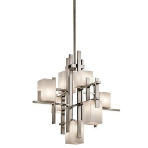 Elstead Kichler City Lights 7lt Chandelier Classic Pewter for sale at Lichfield Lighting