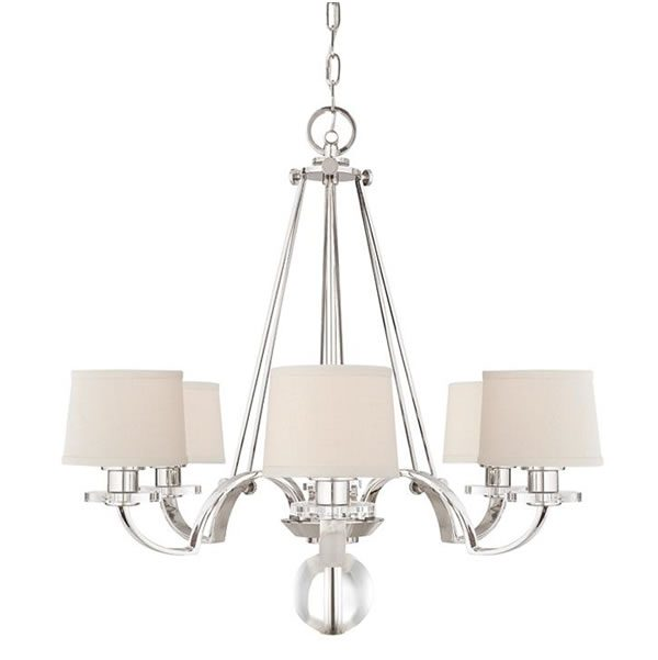 Elstead Quoizel Uptown Sutton Place 6lt Chandelier for sale at Lichfield Lighting