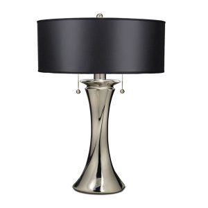 Elstead Stiffel Manhattan Table Lamp Polished Nickel for sale at Lichfield Lighting