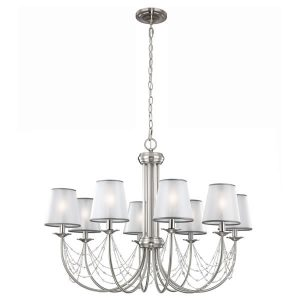 Feiss Aveline 8lt Chandelier Pendant Light for sale at Lichfield Lighting