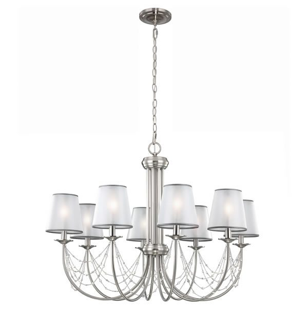 Feiss Aveline 8lt Chandelier Pendant Light for sale at Lichfield Lighting