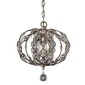 Feiss Leila 1lt Mini Chandelier Pendant Light for sale at Lichfield Lighting