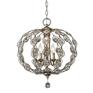 Feiss Leila 3lt Chandelier Pendant Light for sale at Lichfield Lighting
