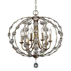Feiss Leila 6lt Chandelier Pendant Light for sale at Lichfield Lighting
