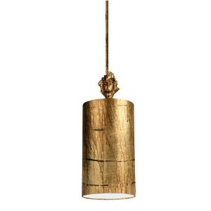 Flambeau Fragment Gold Small 1lt Pendant Ceiling Light for sale at Lichfield Lighting