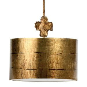 Flambeau Fragment Large Gold 1lt Pendant Ceiling Light for sale at Lichfield Lighting