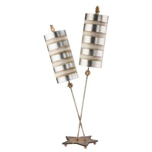 Flambeau Nettle Luxe Silver Table Lamp for sale at Lichfield Lighting