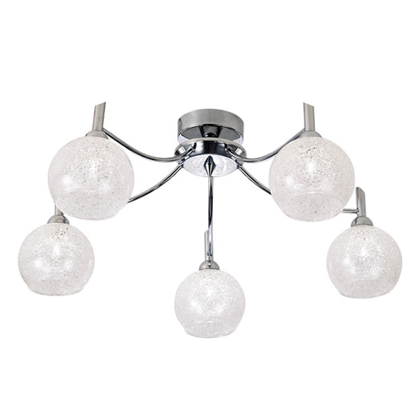 Franklite chrysalis 5 light ceiling light chrome lichfield lighting franklite chrysalis 5 light ceiling light chrome sale at lichfield lighting aloadofball Gallery