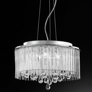 Franklite Spirit 6lt Pendant Ceiling Light Chrome for sale at Lichfield Lighting