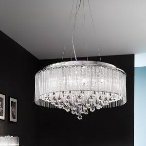 Franklite Spirit 8lt Pendant Ceiling Light Chrome for sale at Lichfield Lighting