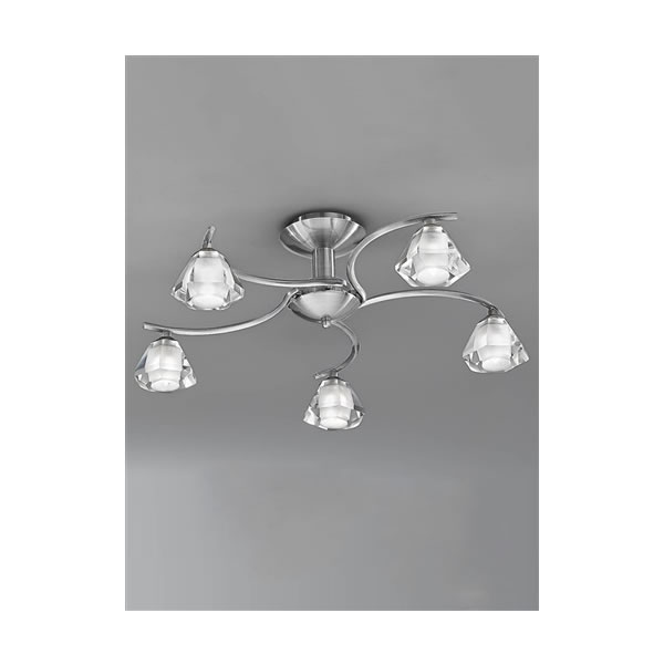 Franklite twista 5 light flush ceiling light satin nickel franklite twista 5 light flush ceiling light satin nickel for sale at lichfield lighting aloadofball Choice Image