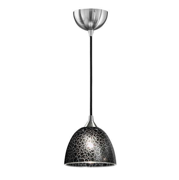 Franklite vetross small pendant ceiling black crackle glass franklite vetross small pendant ceiling black crackle glass for sale at lichfield lighting aloadofball Images