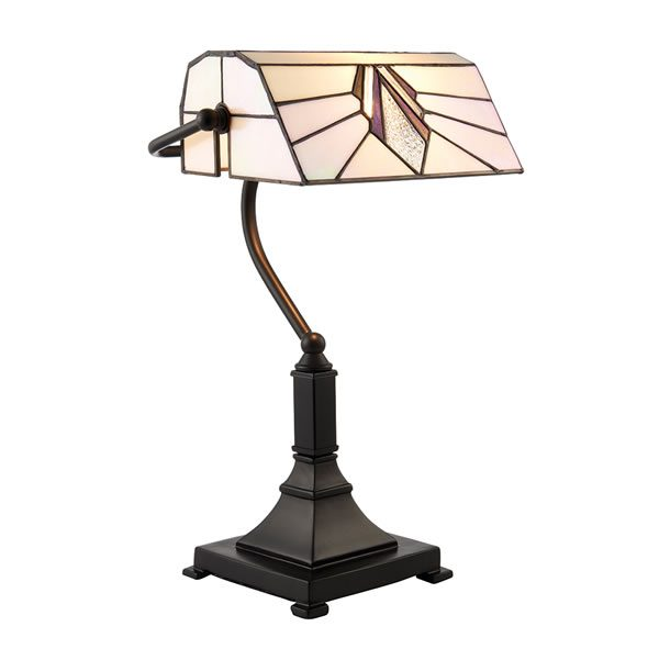 Tiffany Astoria bankers table light for sale at Lichfield Lighting