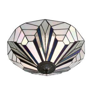 Tiffany Astoria large 2lt flush Ceiling Light for sale at Lichfield Lighting
