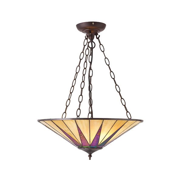 Tiffany Dark star large inverted 3lt pendant for sale at Lichfield Lighting