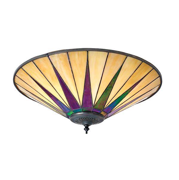 Tiffany Dark star large 2lt flush Ceiling Light for sale at Lichfield Lighting